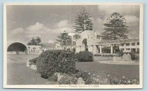 Postcard New Zealand Napier Marine Parade RPPC c1930s Real Photo AD6