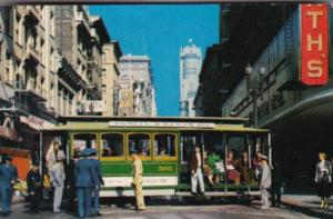 Trolleys Cable Car On Turntable San Francisco California