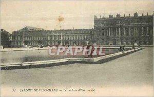 Old Postcard The Gardens of Versailles Parterre d'Eau