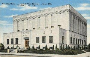 LP16 Lima Ohio Postcard Elks Home