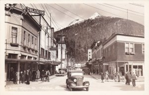 Alaska Ketchikan Old Cars On Mission Street Real Photo sk924