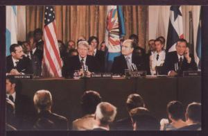 Jimmy Carter Speaks at Panama Treaty Meeting Postcard 3483
