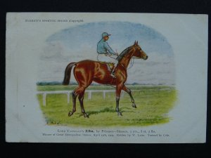 Horse Theme ELBA Lord Cadogan's Gt. Metropolitan Stakes Winner c1904 Postcard