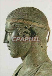 Postcard Modern Museum of Delphi The Charioteer (475 BC J C)