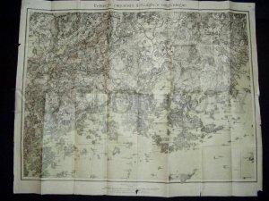 090283 Vintage MAP of Helsingfors (Helsinki) 1923 year FINLAND