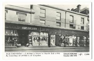 Pamlin C1398 Old Croydon RP PPC, J Allder's Store In North End c 1910