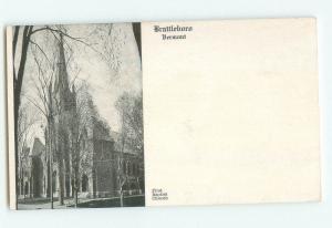 Brattleboro, Vermont First Baptist Church UDB Photo Postcard