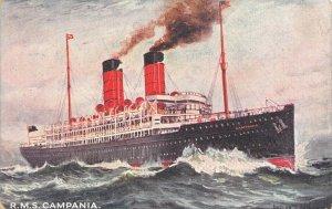 LP52  R.M.S. Campania   Ship Vintage Postcard