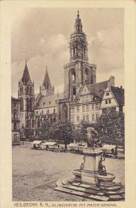 Germany Heilbronn Kilianskirche Mit Mayer Denkmal 1918