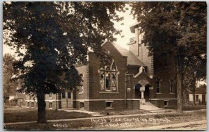 1913 TUSCOLA, Illinois RPPC Postcard North Side Christian Church CHILDS Photo