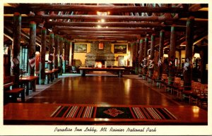 Washington Mt Rainier National Park Paradise Inn Lobby 1962