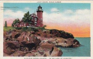 EAGLE HARBOR , Michigan, 1955 ; LIGHTHOUSE