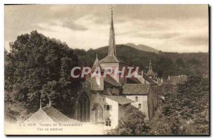 Old Postcard Temple of Romainmotier North East View