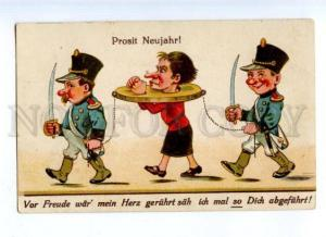 176937 NEW YEAR Wife PRISONER Mother-in-law Vintage COMIC PC