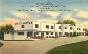 Knoxville Tennessee 1940s MxKee Motel Postcard roadside US 70-11 5790
