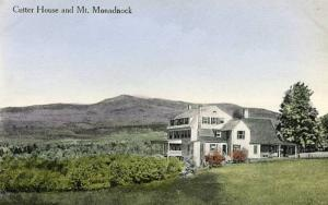 NH - Jaffrey. Cutter House and Mount Monadnock