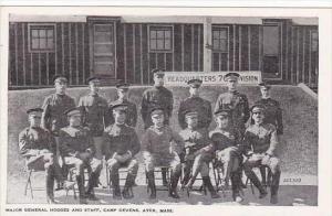 Massachusetts Ayer Camp Devens Major General Hodges &  Staff