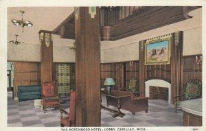 CADILLAC, Michigan, 1900-10s;  The Northwood Hotel, Lobby