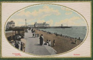 Hampshire Postcard - Promenade and Pier, Southsea, Portsmouth  RS22440