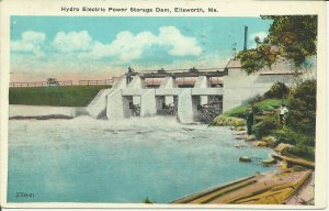 Ellsworth, Me., Hydro Electric Power Storage Dam