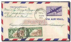 Letter United States Flight Detroit to Jamaica January 11, 1946