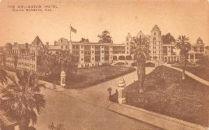 The Arlington Hotel, Santa Barbara, California, Early Postcard, Unused