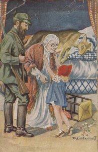 AS; REINDERHOFF: Little Red Riding Hood, Grandma, Hunter & Dead Wolf, PU-1922