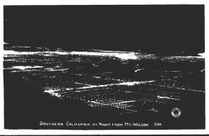 Southern California At Night From Mt Wilson Real Photo