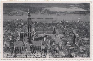 Antwerp, Anvers, Vue aerienne, Cathedrale, Grand Place, 1950 used Postcard