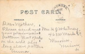 Wheaton MN Bird's Eye View Store Fronts in 1915 RPPC Postcard