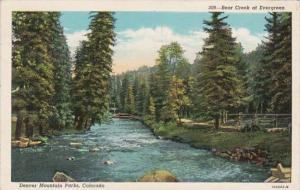 Colorado Denver Bear Creek At Evergreen 1933 Curteich