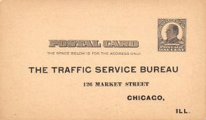 Chicago Commercial National Bank~Tax Day Postal~Anchor Illinois~1896 Flag Cancel