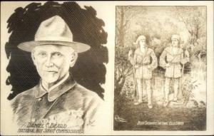 Cowboy Real Photo Card Daniel C. Beard Boy Scout Commish c1920s-30s myn
