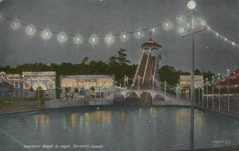 TORONTO , Ontario , Canada , 1900-10s ; Scarboro Beach by night