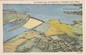 PICKSTOWN, South Dakota, 1930-1940's; Fort Randall Dam and Reservoir