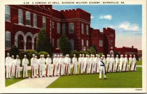 Gainesville, FL - Riverside Military Academy -  Drill on Grounds - POSTCARD