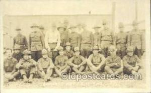 Battery C. 309th F.A. Camp Dix WWI Real Photo Military Soldier in Uniform Pos...