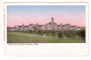 State Insane Hospital, Worcester, Massachusetts, A P Lundborg, Reflecting Win...