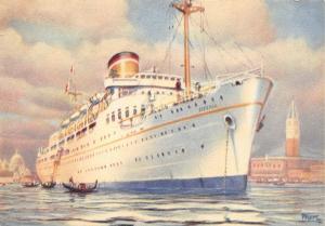 Postcard M/S Esperia, Adriatica Navigation Co., Grand Express, Europe - Egypt #E