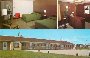 Luxemburg Wisconsin~Maleski's Luxemburg King Socker Motel~1960s Postcard