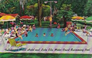 Florida Tallahassee Motor Court & Lake Ella Motor Court Swimming Pool 1983