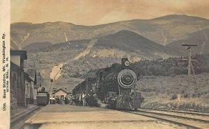 Mt Washington NH Railway Engine & Train Real Photo Postcard