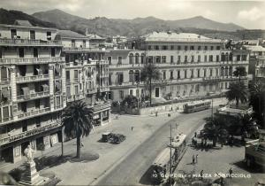 Italia Italy Ge-Pegli piazza Porticciolo cartolina vera foto anni 50