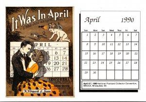 1990 Sheet Music Calendar Series April It Was In April