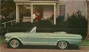 Advertising Chevy II Nova 400 Convertible 1963 POSTCARD 5737