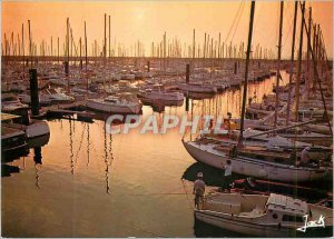 Postcard Modern Pornichet Cote of Love Colors of Brittany Sunset Harbor Boat ...
