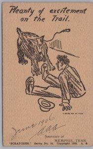 Memphis, Tenn., Plenty of Excitement on the trail Souvenir of Memphis-1906