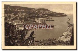Nice Postcard Old Port and Mont Boron
