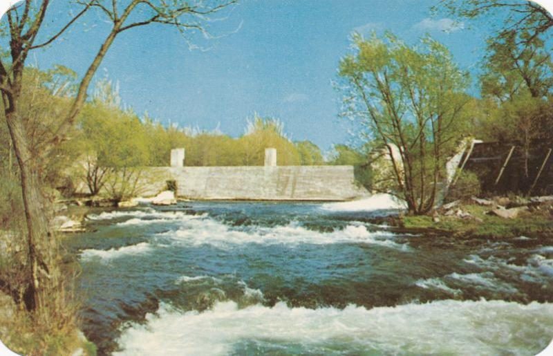 Falls at Littleville on Canandaigua Lake Outlet NY - Scene of early Grist Mill