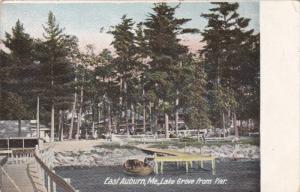 Lake Grove From Pier, EAST AUBURN, Maine, 1900-1910s